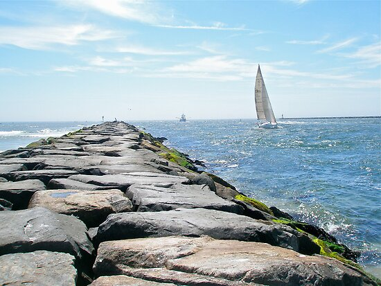 Sailing Barnegat Inlet by MotherNature