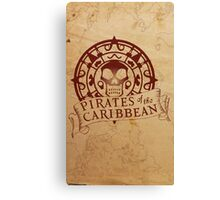 Pirates of the Caribbean Medallion 2 Canvas Print