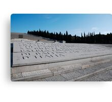 Military Cemetery in Italy Canvas Print