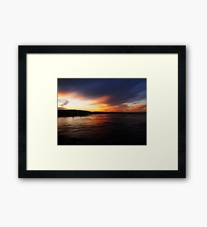 end Framed Print