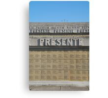 Redipuglia Military Cemetery in Italy Canvas Print