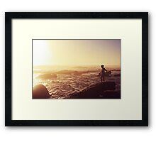 today was a pretty day Framed Print