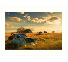 Old Fords & Farms-HDR Art Print