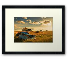 Old Fords & Farms-HDR Framed Print