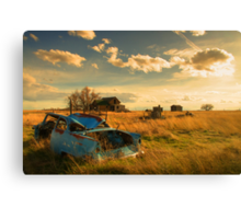 Old Fords & Farms-HDR Canvas Print