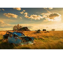 Old Fords & Farms-HDR Photographic Print