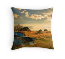 Old Fords & Farms-HDR Throw Pillow
