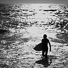 Silhouette Surfer by Blake Johnson
