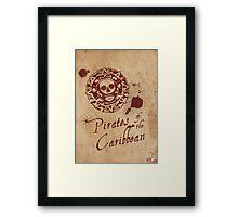 Pirates of the Caribbean Medallion Framed Print