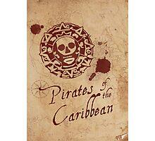 Pirates of the Caribbean Medallion Photographic Print