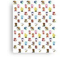 Pixel Crossing Canvas Print