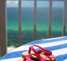 Beach Paradise - Sandals Overlooking the Beach by wannabecool