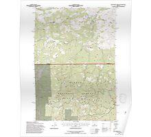 USGS Topo Map Oregon Dutchman Creek 279735 1992 24000 Poster
