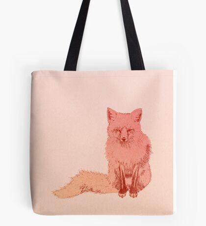 Peach Fox Tote Bag