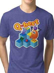Q*Bert Logo Tri-blend T-Shirt