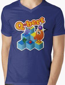 Q*Bert Logo Mens V-Neck T-Shirt