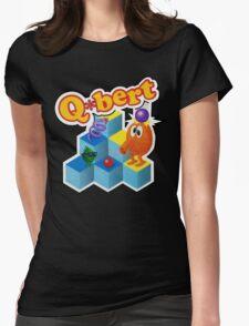 Q*Bert Logo Womens Fitted T-Shirt