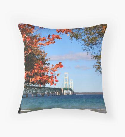 Mackinac Bridge Throw Pillow