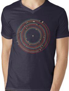 Vinyl music metro record map labyrinth  Mens V-Neck T-Shirt