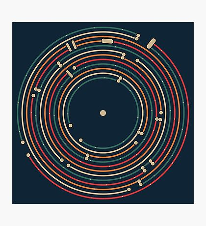Vinyl music metro record map labyrinth  Photographic Print