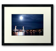 Vertical Lift Bridge Framed Print