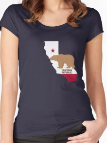 California Republic Women's Fitted Scoop T-Shirt