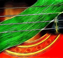 Guitar with Gladiola Leaf by DaveMoffatt
