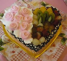 Priya's Wedding Cake (single layer) by Rosmarie Schulz