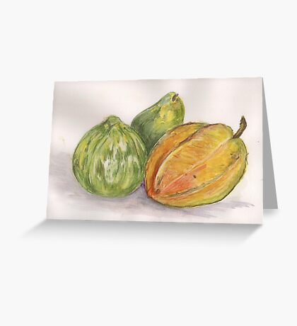 Lora Loka's Fruit and Vegetables Greeting Card