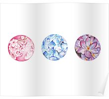 Floral Triad Poster
