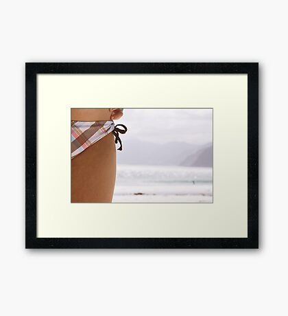 the days we sipped pink drinks.  Framed Print