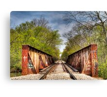 Rail Road Tracks Canvas Print