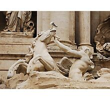 Triton Calming Horse Statue, Trevi Fountain Photographic Print