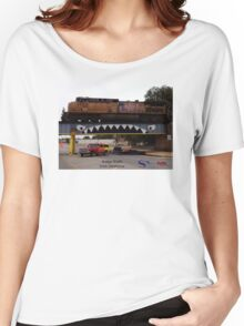 Bridge Shark West with Train, Enid Women's Relaxed Fit T-Shirt