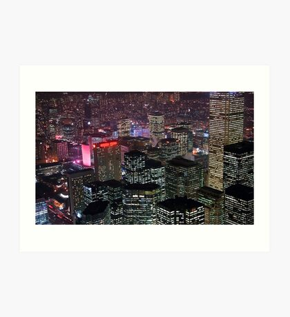 High rise buildings Art Print