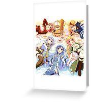 a handful of heroines Greeting Card