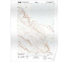 USGS Topo Map Oregon Southwest Harney Lake 20110829 TM Poster