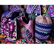 Embroidered bags Photographic Print