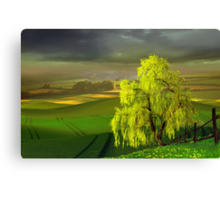 Green Beginning Canvas Print