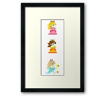 Princess Pixel Framed Print