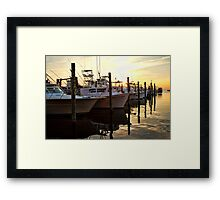 Hatteras Fishing Boats Framed Print