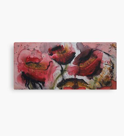 Bleeding Poppies Canvas Print