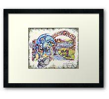 Sonic BOOOM! Framed Print