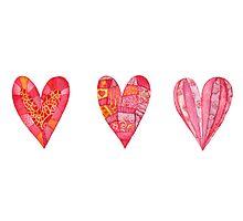 Hearts ,watercolor Photographic Print