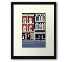 Red and blue historic buildings Framed Print