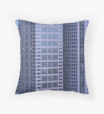 multi story buildings in Tokyo city Throw Pillow