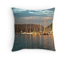 Evening Glow at Cowichan Bay BC Throw Pillow