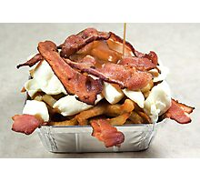 poutine with bacon Photographic Print