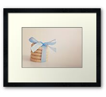 wrapped butter biscuits Framed Print