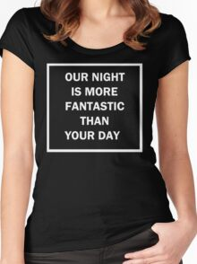 Jeonghan Our Night Shirt Women's Fitted Scoop T-Shirt